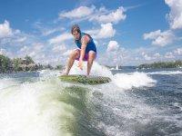 Wakeboard sul lago