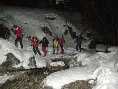 Ciaspolata notturna a Valle Stretta 6ore