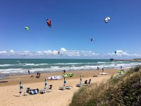 I kitesurf in azione