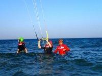 Lezione di kitesurf nel Gargano