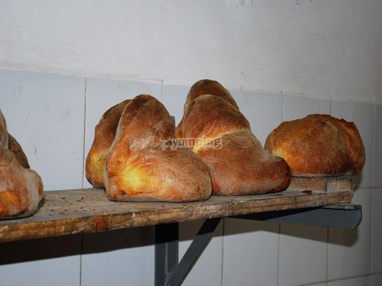 Pane pronto ad essere gustato