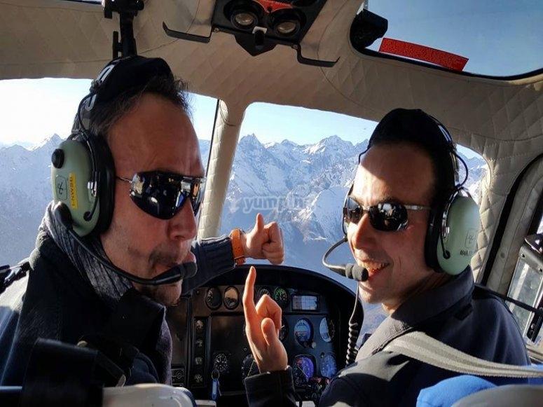 Saluti dal pilota