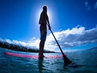 paddle surf al sole