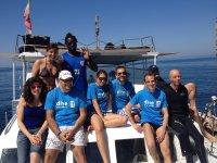 In barca nell'Oasi protetta di Gaeta