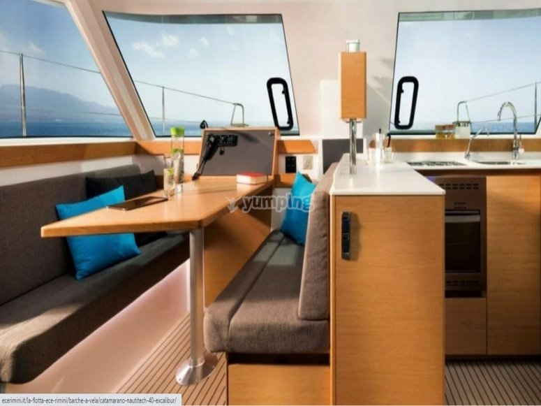Interior of our boat