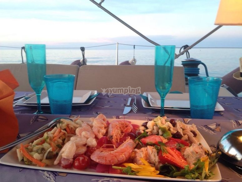Rich fish salad
