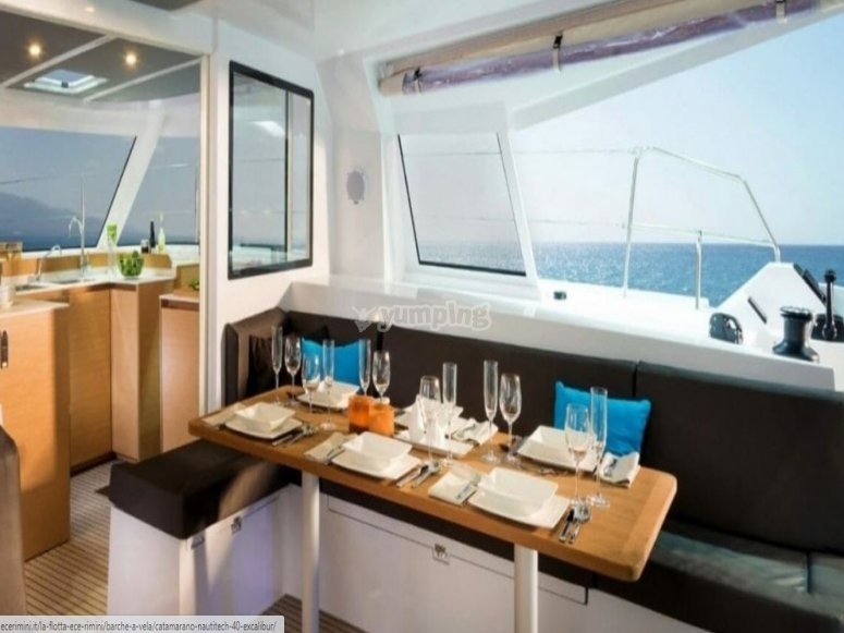 Table set on board