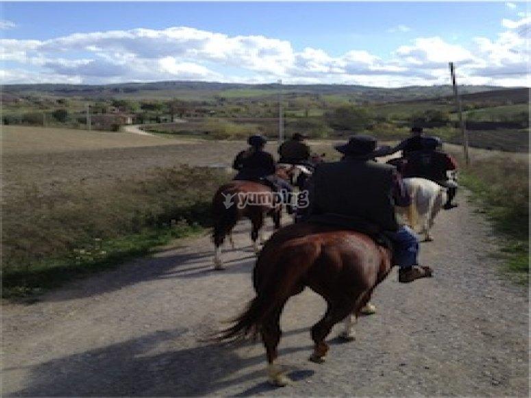 Trekking equestre intensivo di due giorni