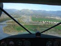 Depuis la cabine de pilotage