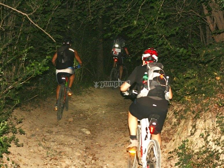 Escursione di Slow Bike notturna