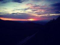 Il tramonto sulla vallata