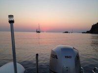 Uno splendido tramonto sul mare