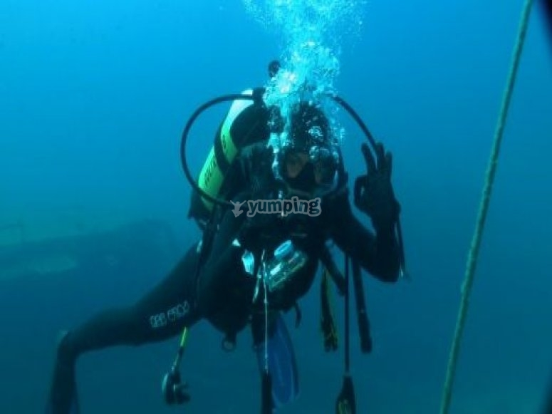 Diving in dry land