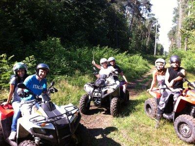Tour in quad singolo con bruch a Pocapaglia