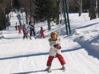 Having fun on the slopes