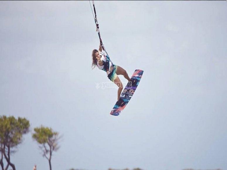 Corsi di kite sulla costa Sarda