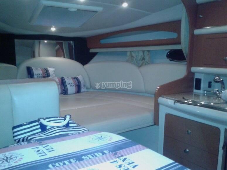 lusso e comodità in barca