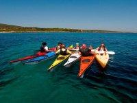 In mare con il kayak