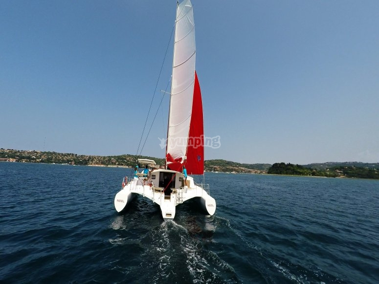 By boat in the Gulf of Squillace