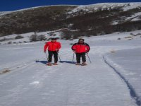 Snowshoeing in Valle dell Aniene