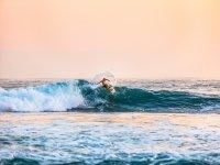 Surf al tramonto