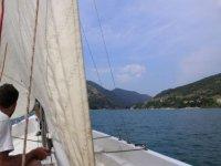Panorami dalla barca a vela
