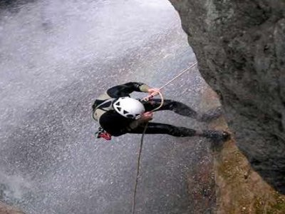 Sports in Open Space Canyoning