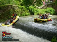 Rafting on the rubber boats