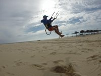 jumping with the kite sail