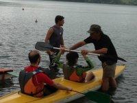 Preparazione attività in Canoa
