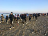 Nordic walking a in spiaggia