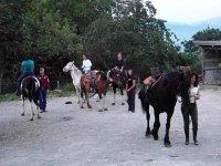 Excursion on horseback at Salerno