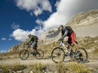 By mountain bike on the Dolomites