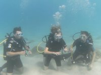 during i corsi di diving