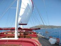 Inside yacht