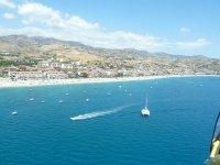 In volo sul mare della Calabria