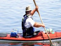 Canoe on Lake Bracciano