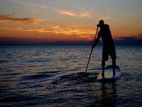 pagaiando in mare aperto