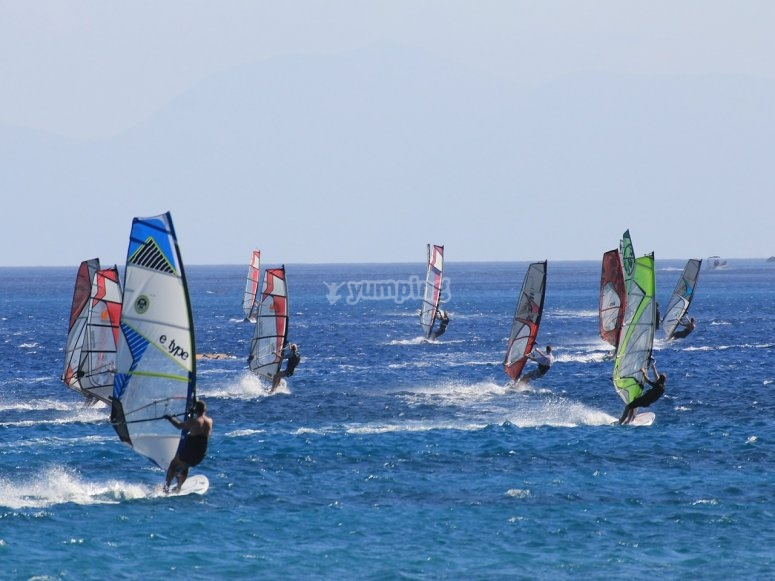 Windsurf in gruppo