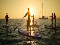 un tramonto in paddle