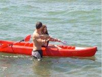 Two-seat canoe