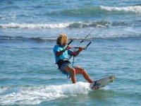 Turn-around with kite