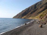 la spiaggia nera di stromboli