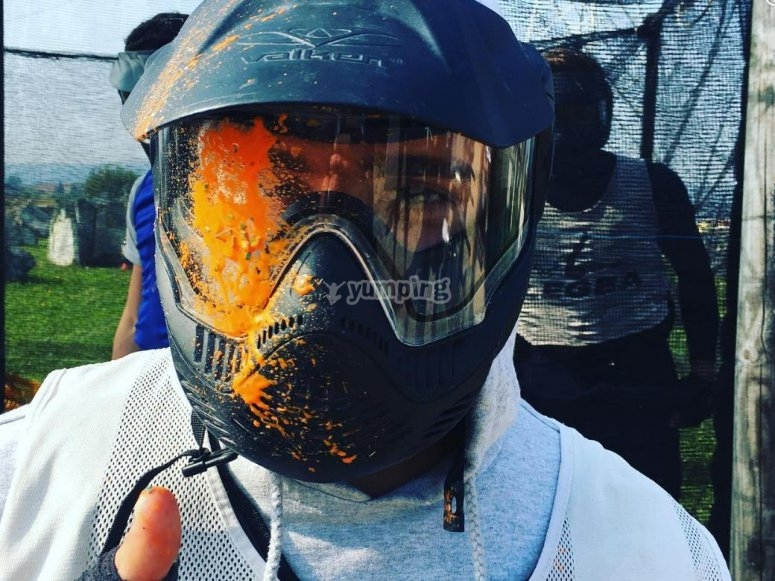colpito dal paintball