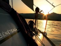 Sunset on a sailing boat!
