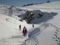 Escursione su neve fresca