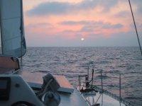 tramonto a bordo