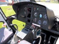 The controls of a helicopter