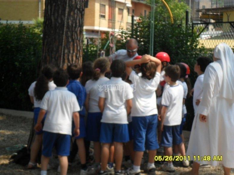 Treeclimbing bambini