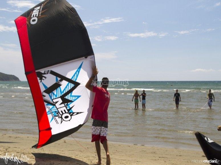 Aquilone kitesurf